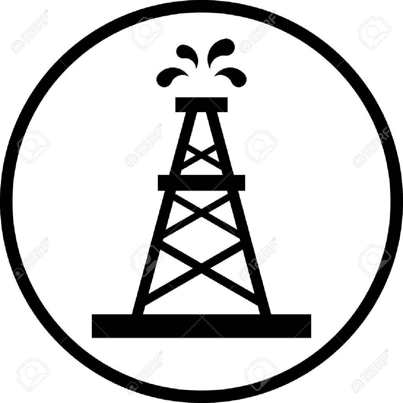 1300x1300 Collection Of Oil Derrick Drawing High Quality, Free