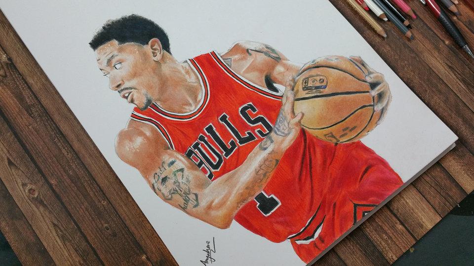 960x540 Drawing Derrick Rose