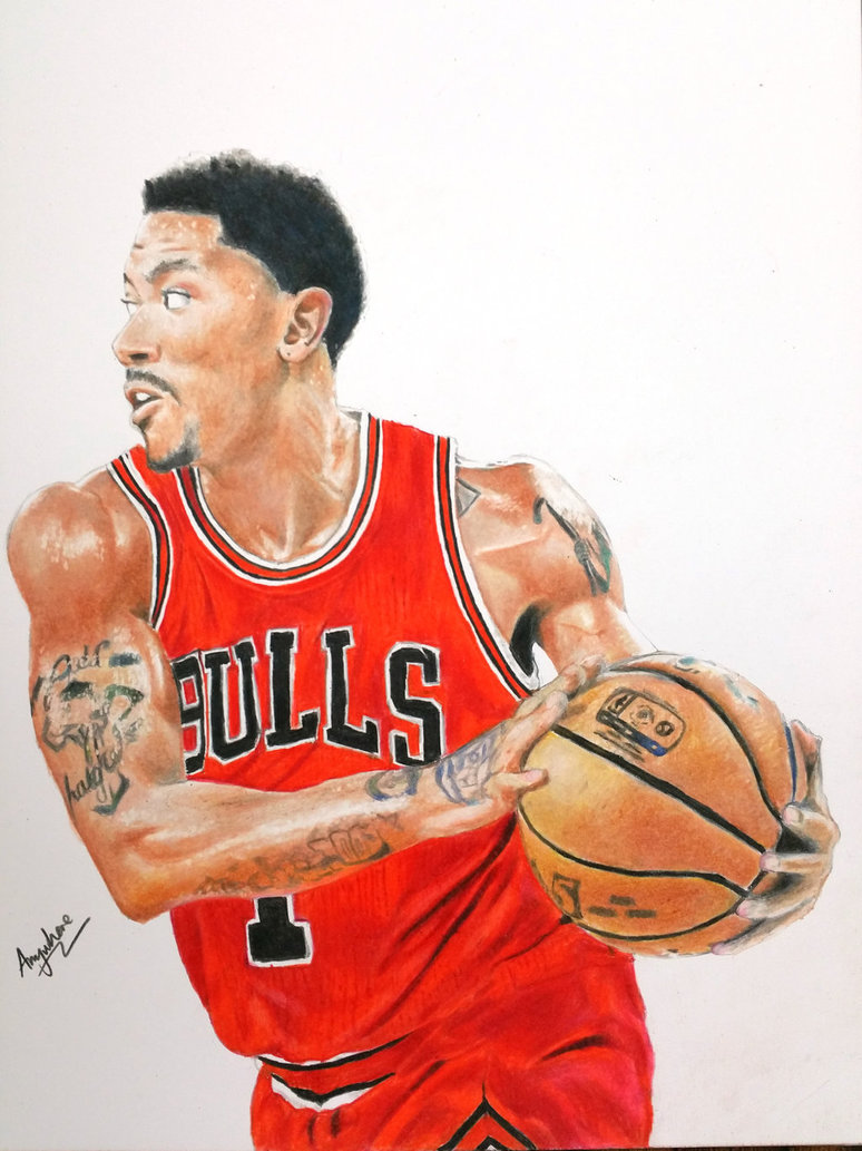 774x1033 Drawing Derrick Rose By Anywheret