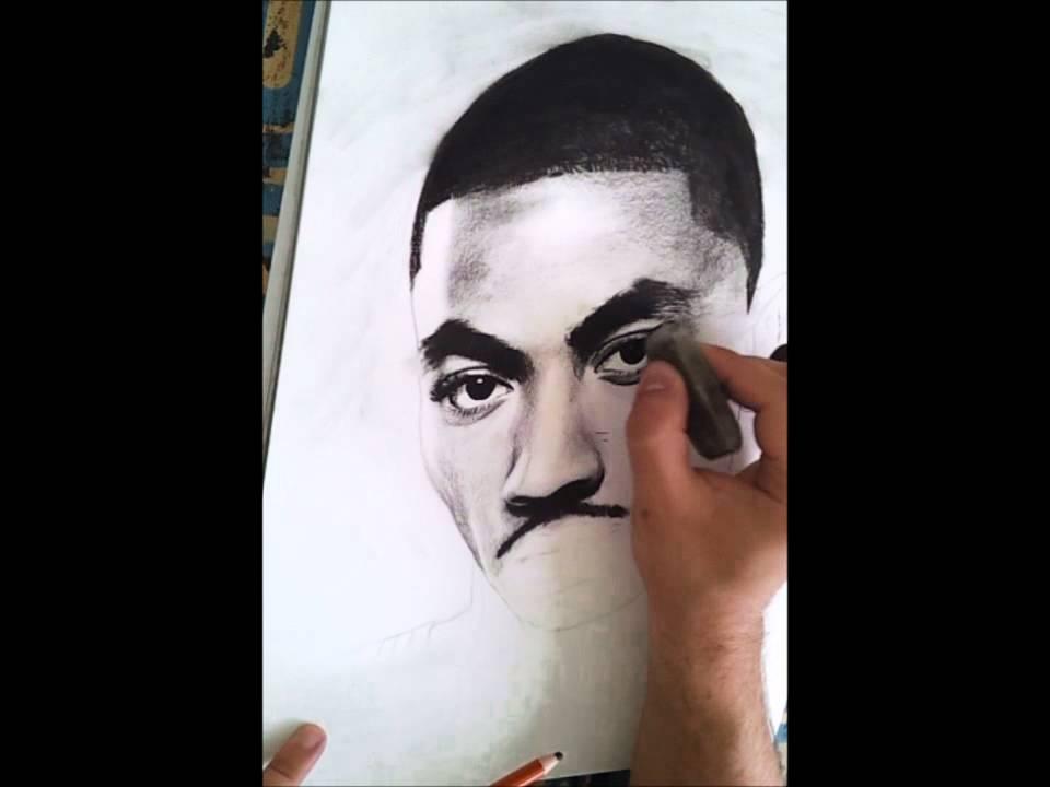 960x720 Me Drawing Derrick Rose With Charcoal Portrait Pop Art