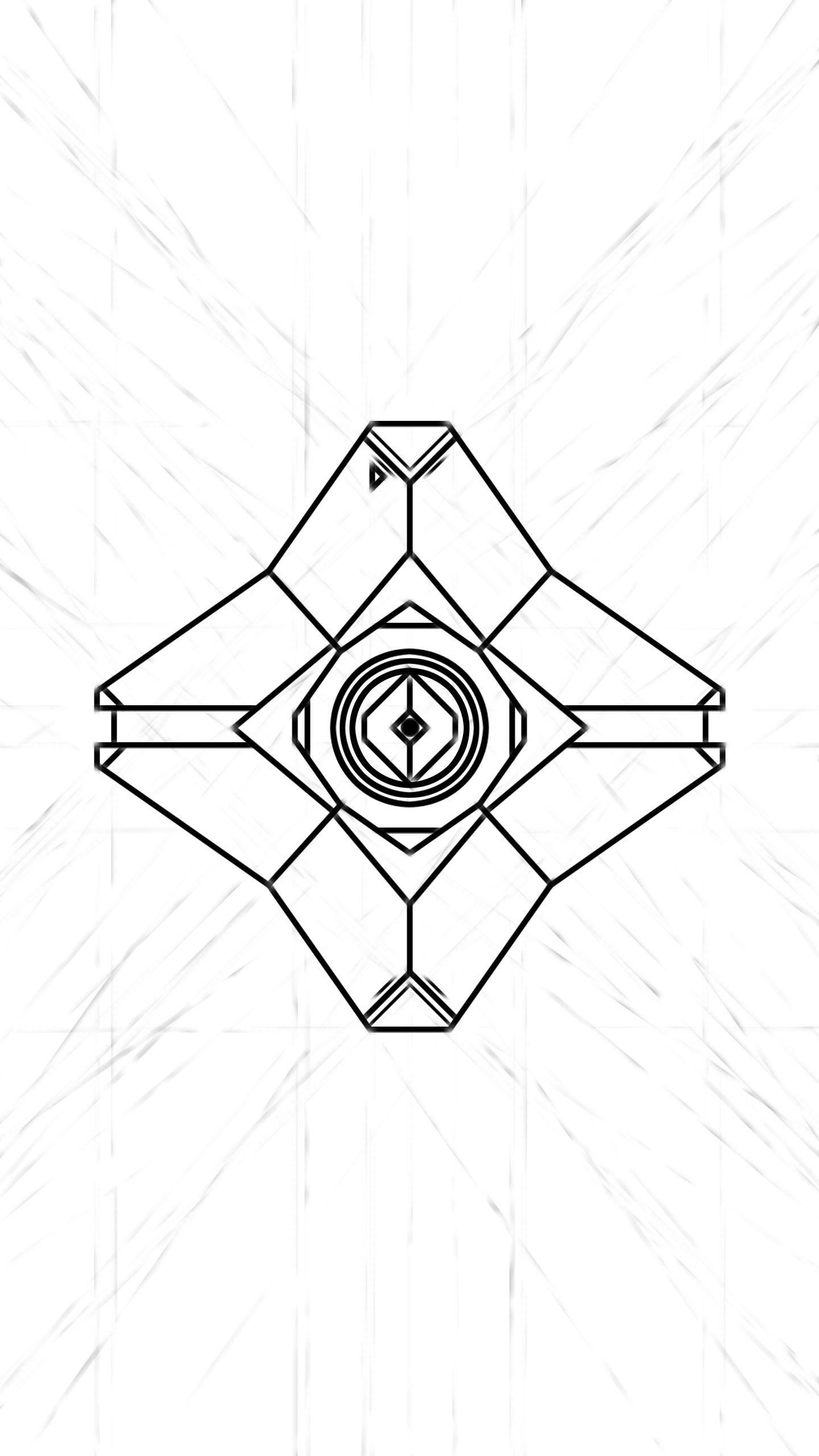 1440x2560 Destiny Ghost Doodle Wallpaper Work In Progress