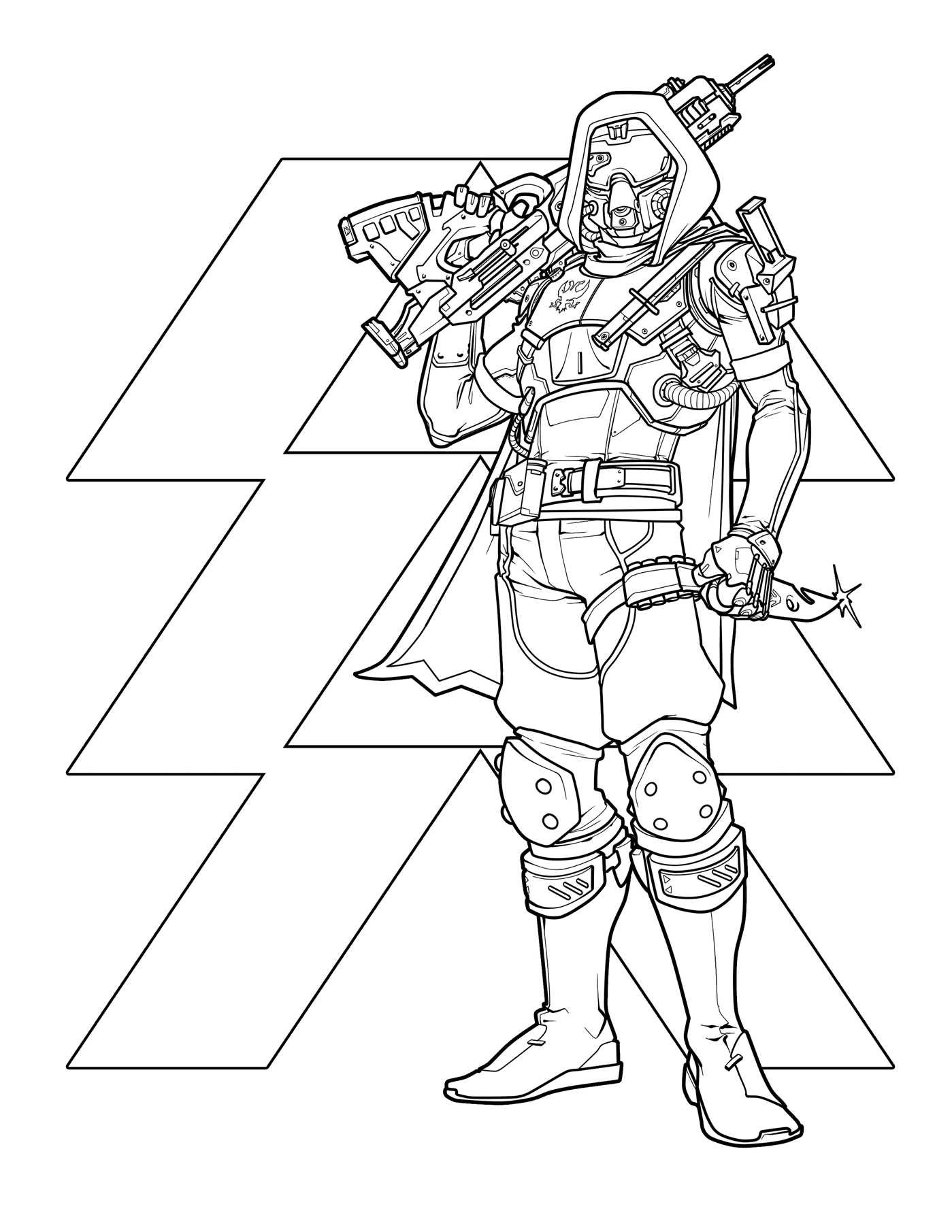 1399x1811 Destiny The Official Coloring Book Bungie, Ze Carlos
