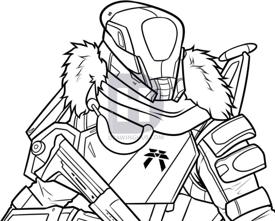 893x720 How To Draw A Titan From Destiny, Step By Step, Drawing Guide, By