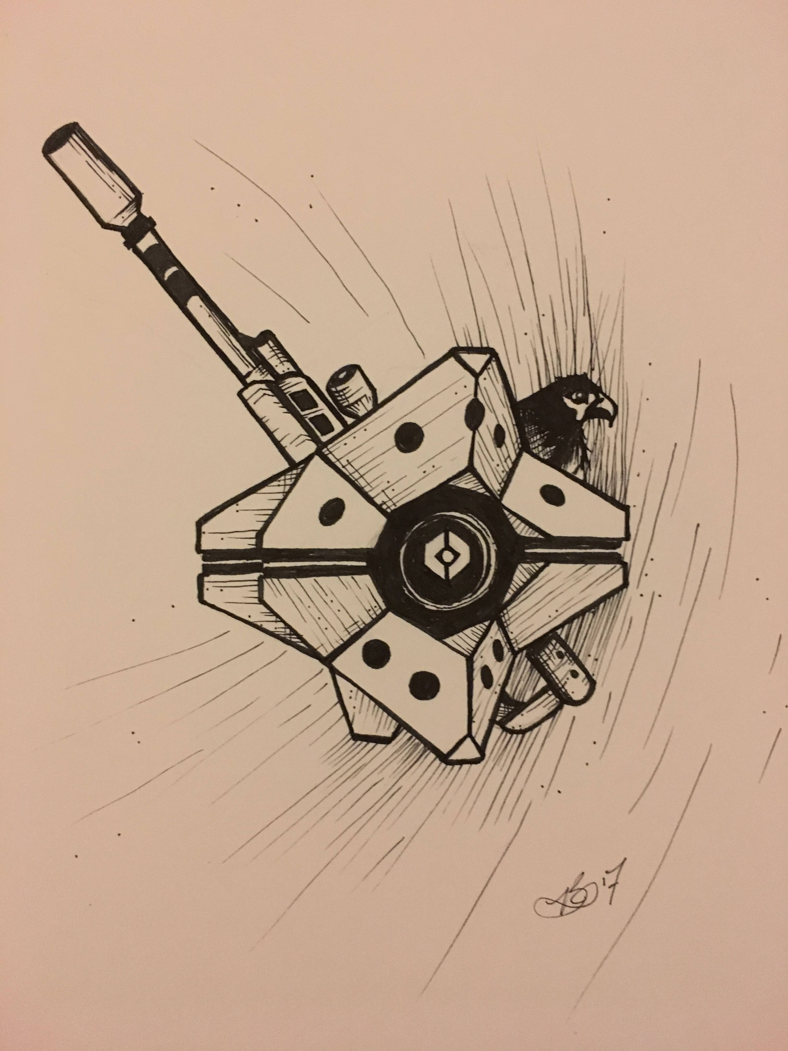 3024x4032 21 Destiny Ghost Drawing For Inktober!