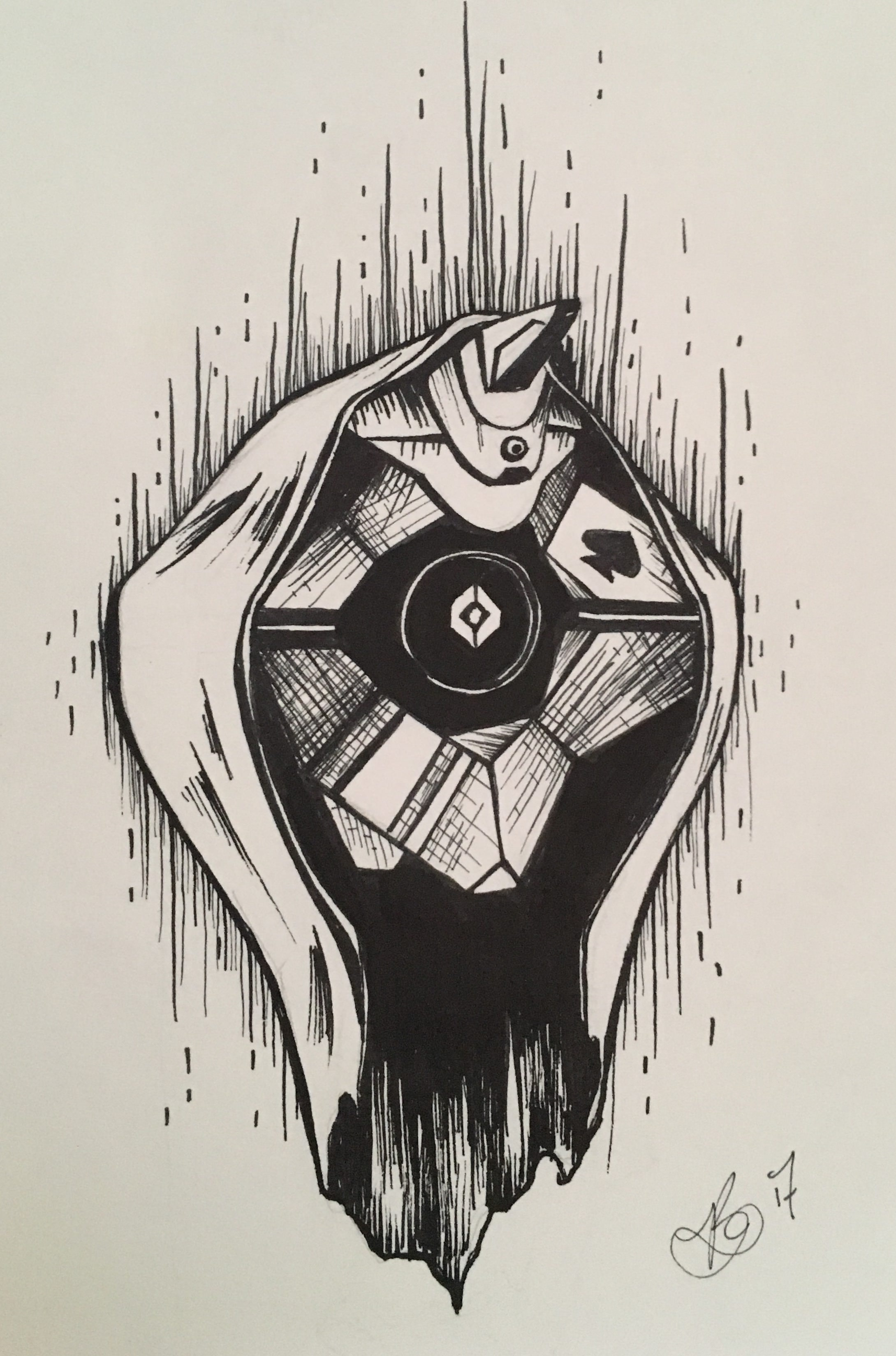 2179x3296 Collection Of Destiny Drawings Ghost High Quality, Free