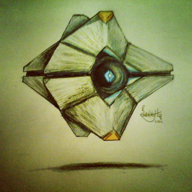 640x640 Collection Of Destiny Ghost Drawing Easy High Quality, Free
