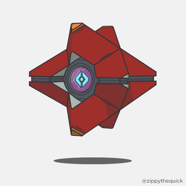 650x650 Collection Of Destiny Ghost Drawing Easy High Quality, Free