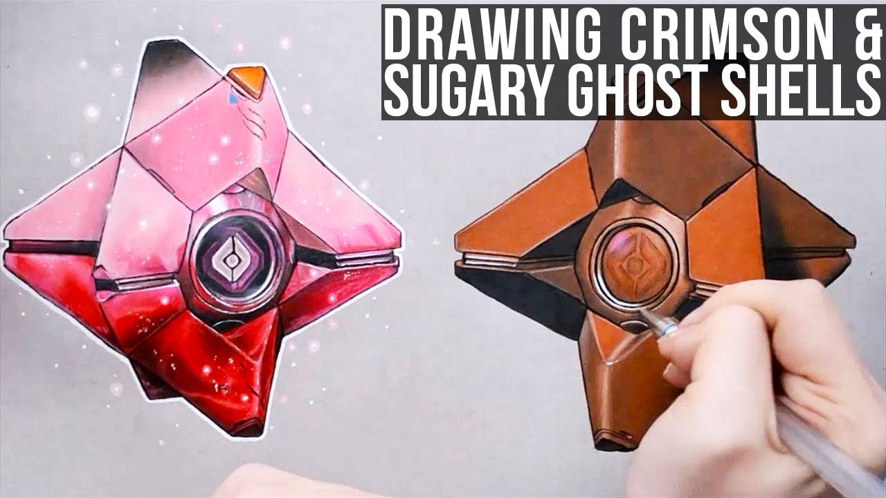 1280x720 Drawing Crimson Amp Sugary Ghost Shells Crucible Destiny Bungie