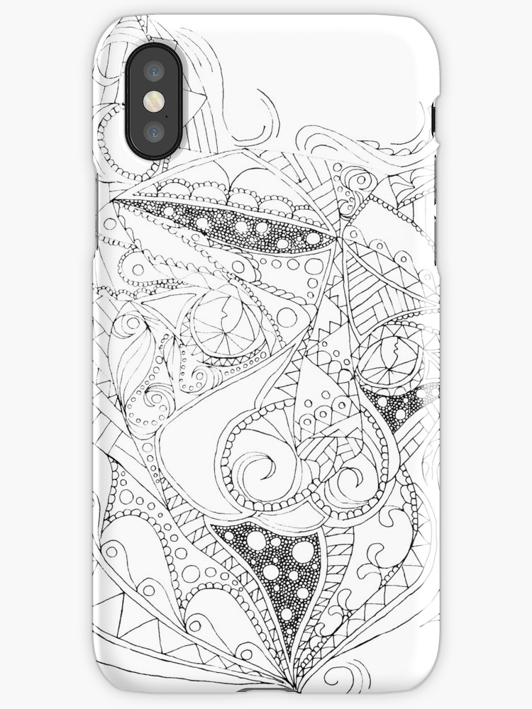 750x1000 Colorable Cat Abstract Drawing Iphone Cases Amp Covers By