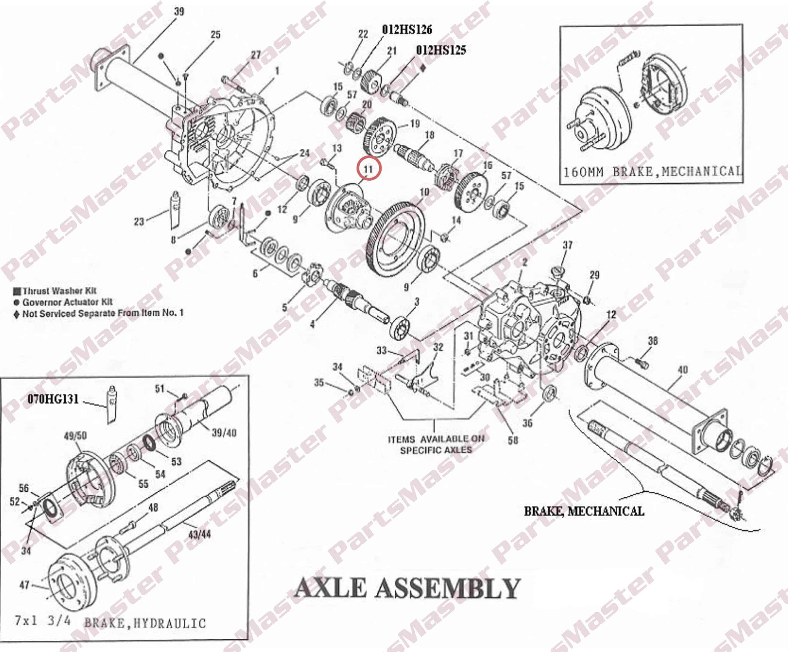 Differential Drawing At Free For Personal Use Gear Schematic 2584x2140 G 300 Assembly 012da111x Partsmaster Inc
