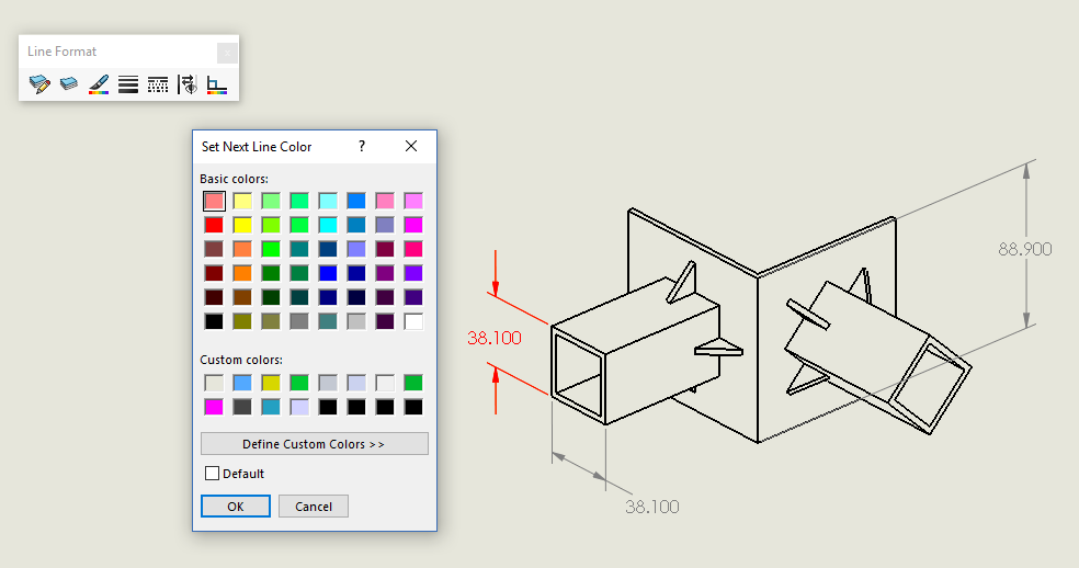 984x518 Solidworks Drawing Dimension Colors Computer Aided Technology