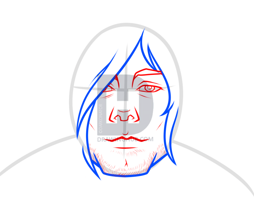 816x720 Drawing Kurt Cobain Easy, Step By Step, Drawing Guide, By
