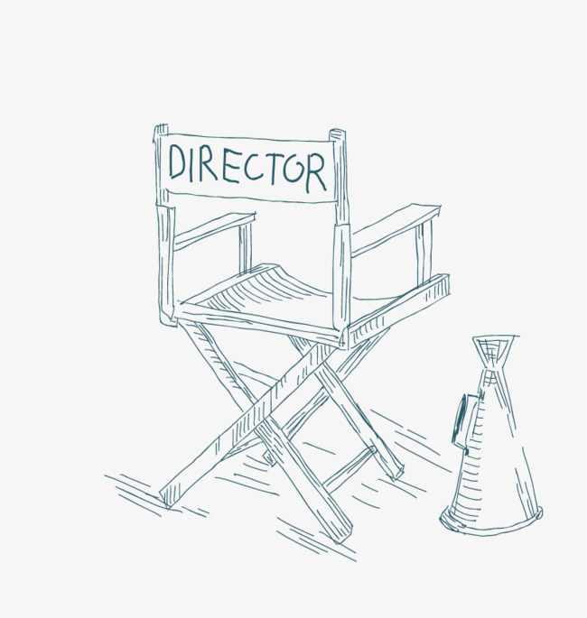 650x685 Vector Director Chair, Sketch, Speaker, Vintage Png And Vector