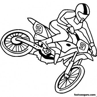 Dirt Bike Drawing Step By Step