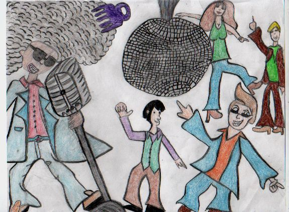 575x421 Disco Drawing In Color By Gothic Sol