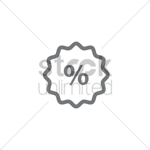 600x600 Discount Symbol Vector Image