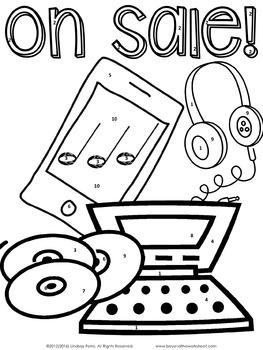 263x350 Percent Discount, Taxes And Tips Coloring Worksheet By Lindsay Perro