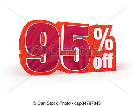 450x357 95 Percent Off Red Wool Styled Discount Price Sign. Discount