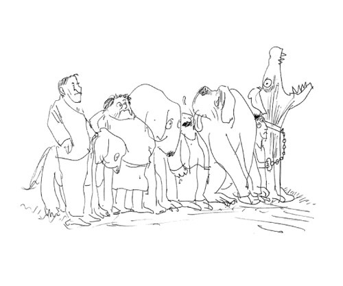 500x417 Legendary Cartoonist Ralph Steadman's Inkblot Dog Drawings Brain