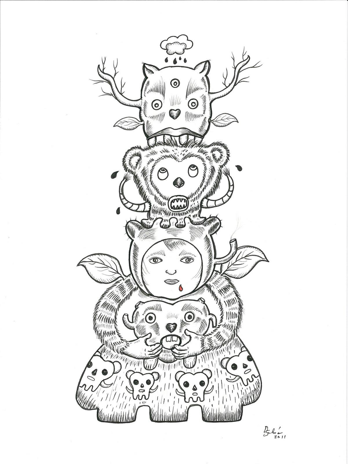 1201x1600 Ink Drawing Slacker Shack