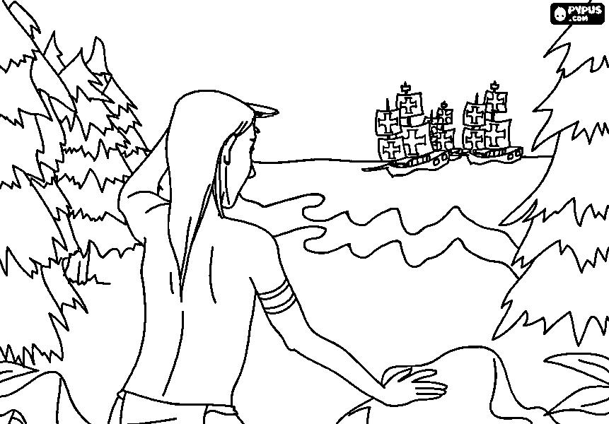 861x600 Discovery Of America Coloring Page 10