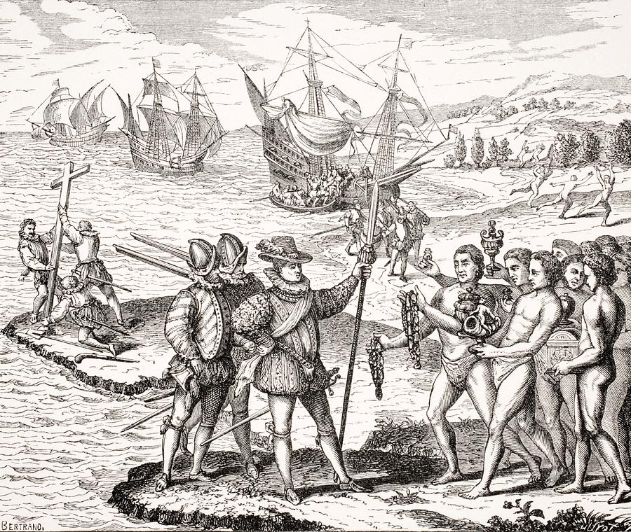 900x760 Discovery Of America,12th Of May,1492 Drawing By Vintage Design Pics