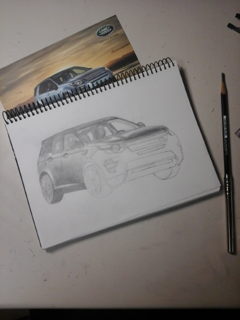 480x640 Drawing A Land Rover Discovery Sport Part3 By Parksungha