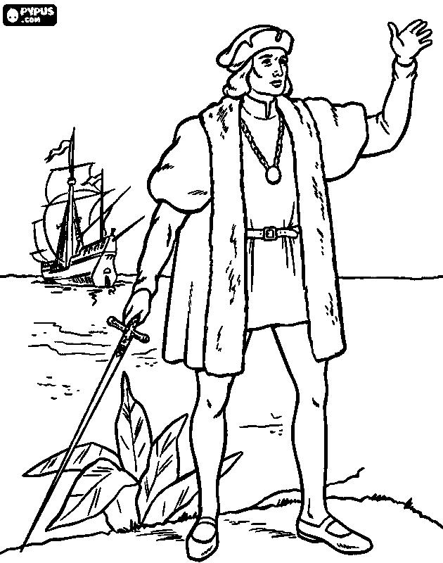 630x800 Discovery Of America Coloring Page 3