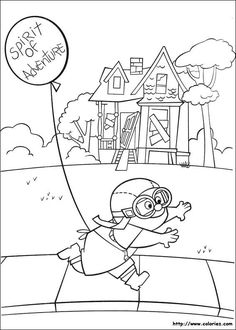 236x330 Up House Flying In The Sky Coloring Page Clip Art