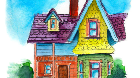 570x320 Pixar Up House Drawing Up House By Mendivant