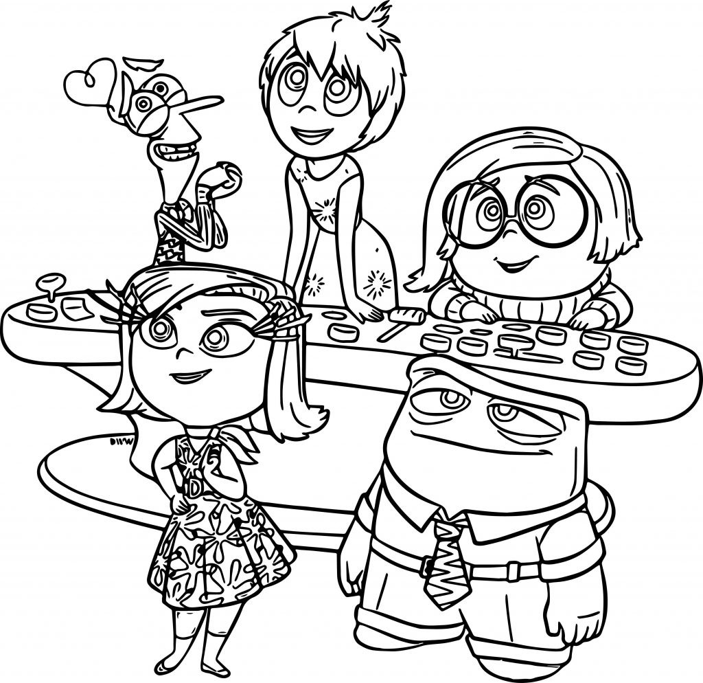 1024x994 Coloring Page Pixar Pages Inside Out Disney Up Brilliant House