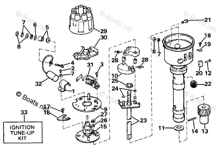 750x512 Omc Sterndrive Parts 5.0 Liter Oem Parts Diagram For Distributor