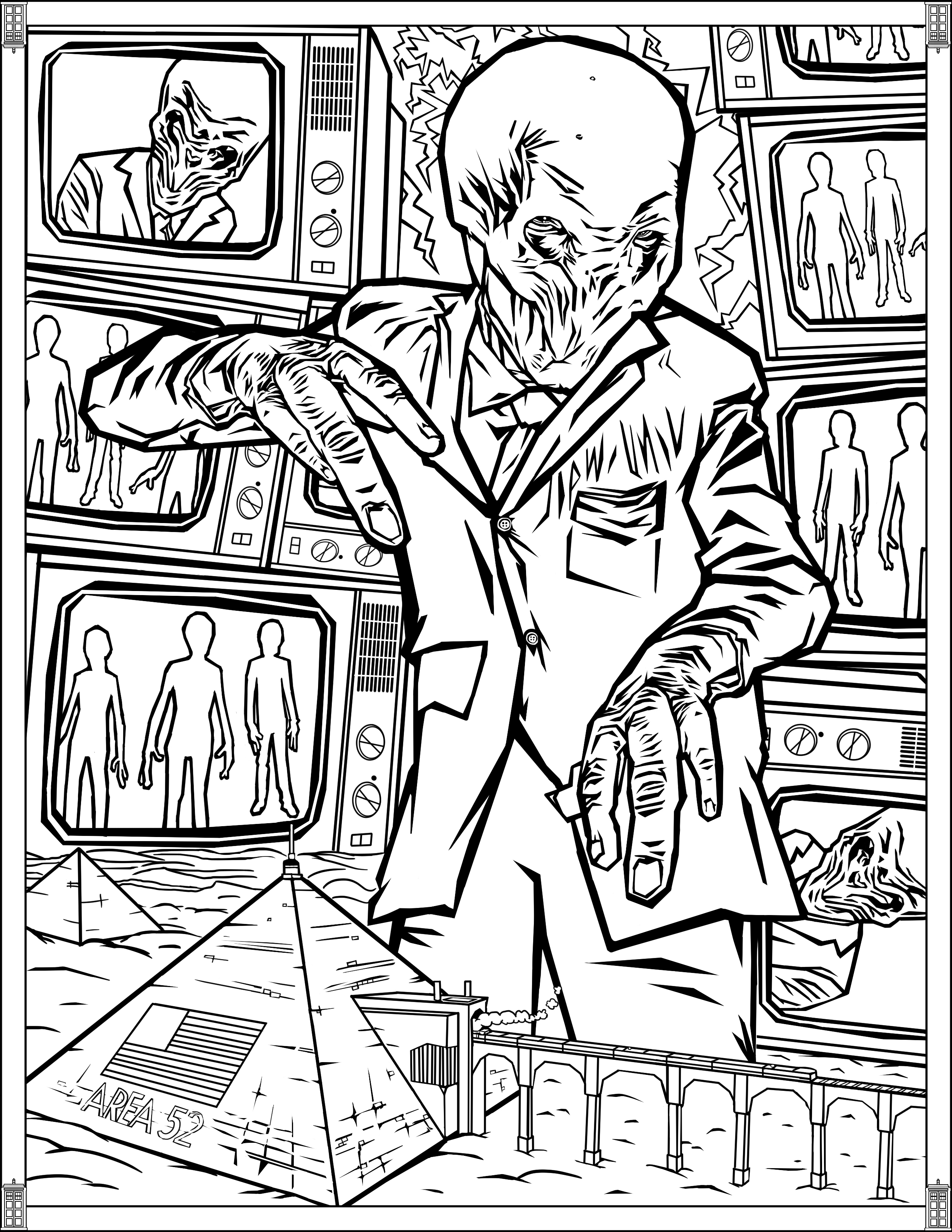 2550x3300 Doctor Who Coloring Pages Sonic Screwdriver
