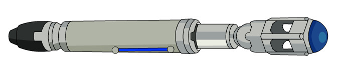 674x140 Collection Of Doctor Who Sonic Screwdriver Drawing High