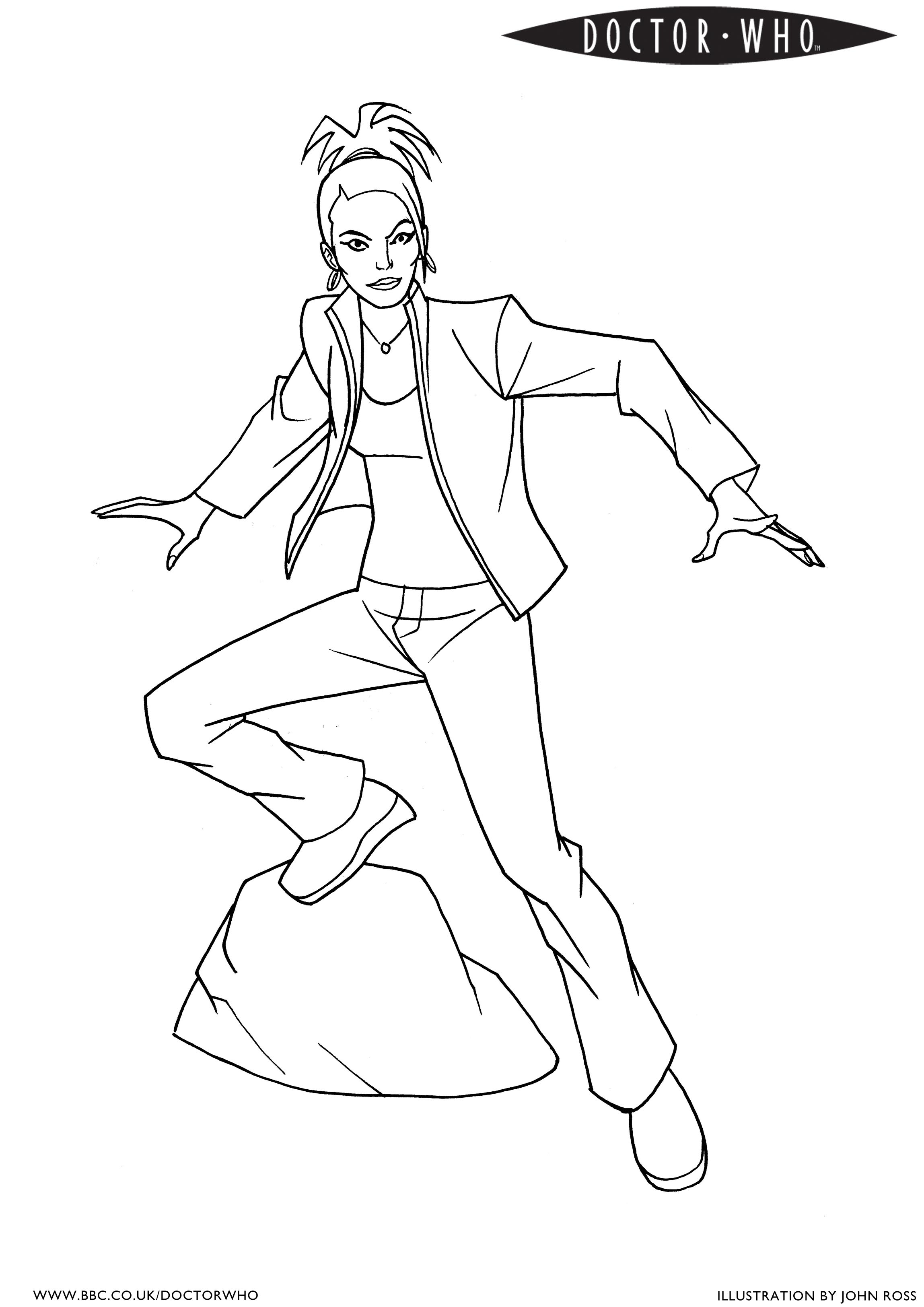 2297x3248 Bbc Doctor Who Coloring Page 4 Martha Coloring Pages