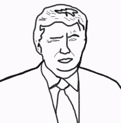 416x423 Free Montessori Donald Trump Coloring Page The Mom And A Blog