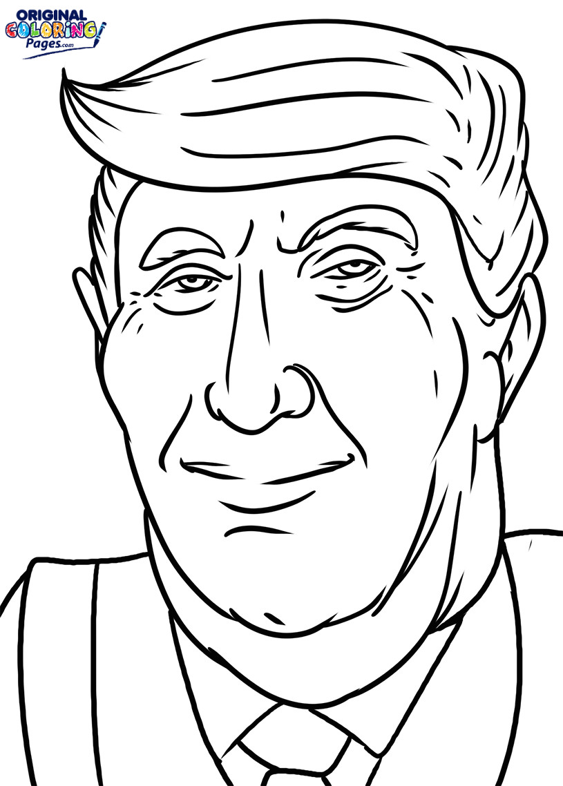 815x1138 Nice Donald Trump Coloring Pages Soar Page Original 6915 Unknown