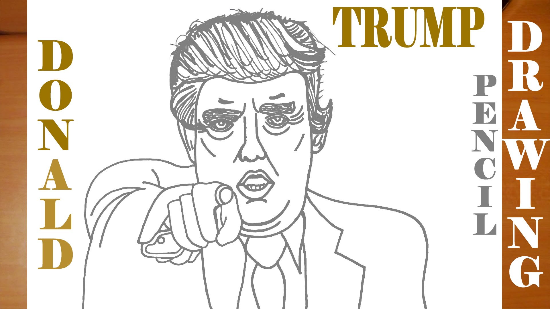 1920x1080 How To Draw Donald Trump For Kids Easy Cartoon Style Pencil