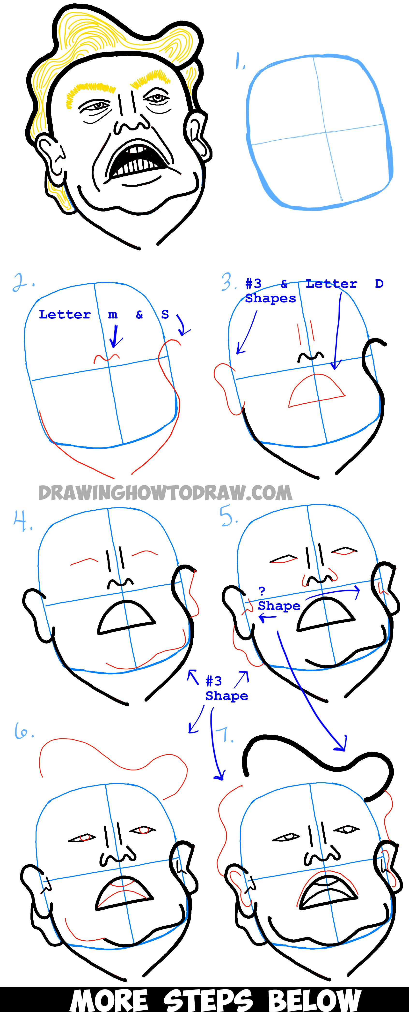 1692x4182 How To Draw Donald Trump Caricature Or Illustration