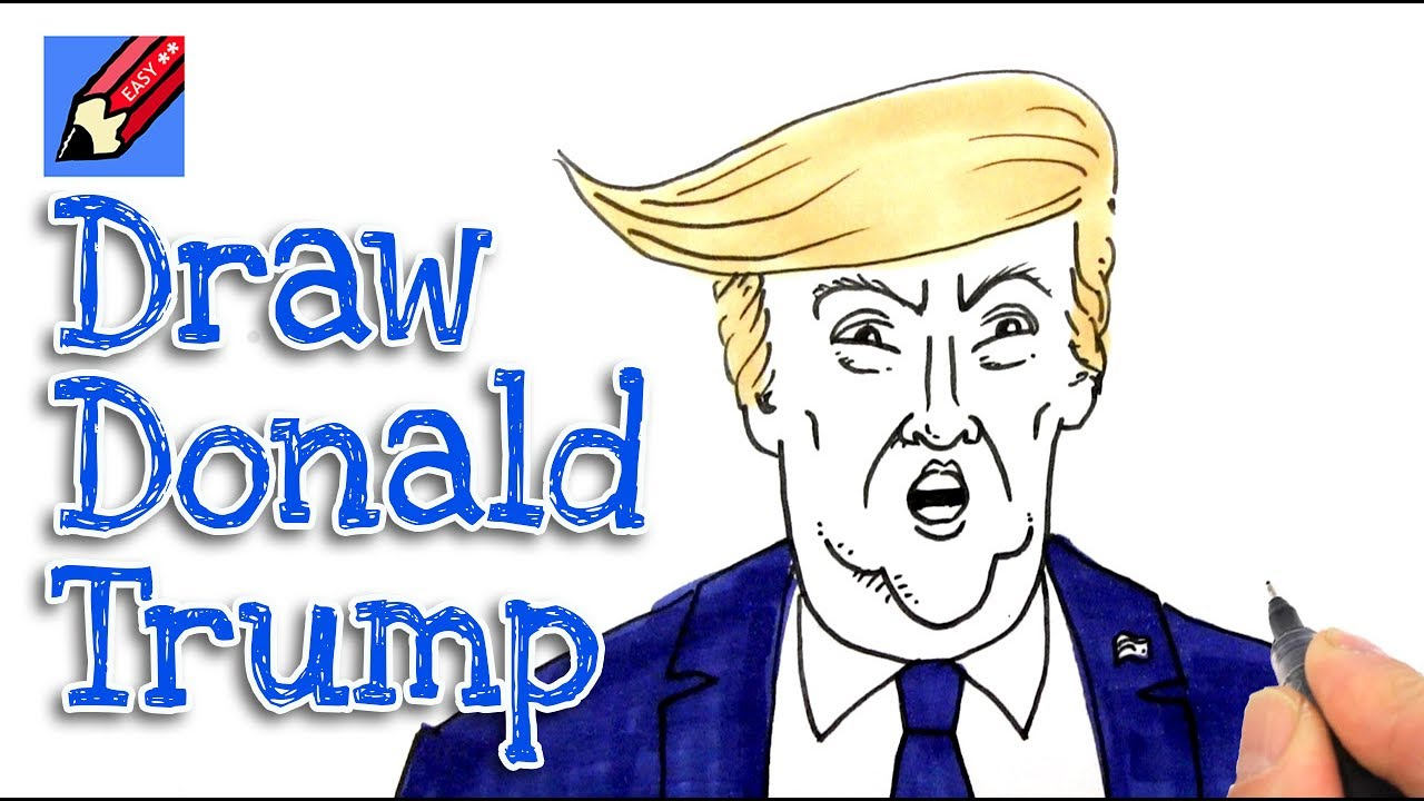 1280x720 How To Draw President Trump Real Easy