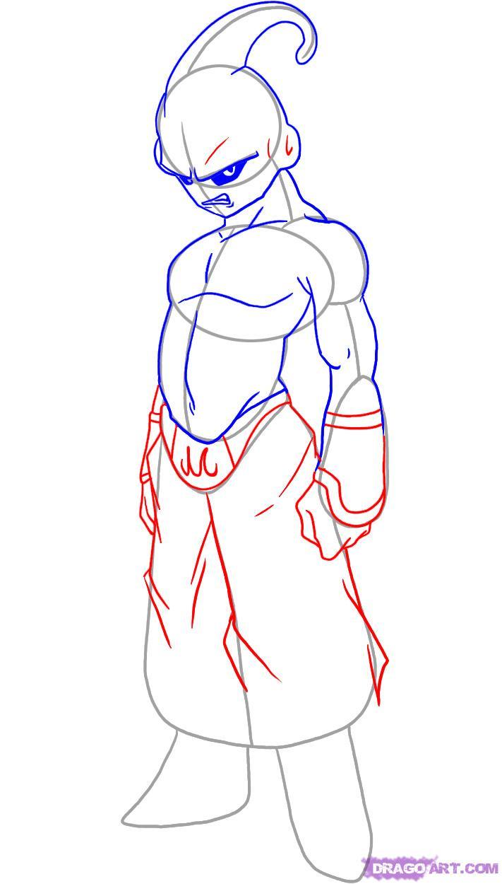 711x1250 How To Draw Kid Buu How To Draw Kid Buu, Stepstep, Dragon Ball Z
