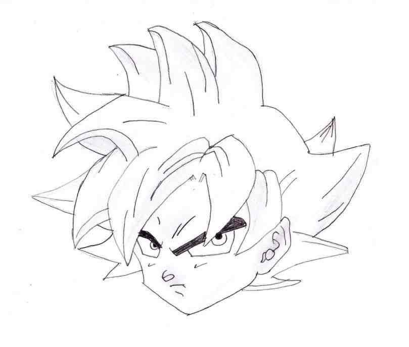 809x687 Drawing Easy To Draw Goku Super Saiyan God Dragon Ball Z Easy Step