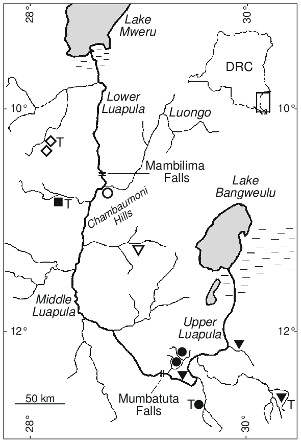 590x867 Fig. 8. Luapula Drainage Showing The Distribution