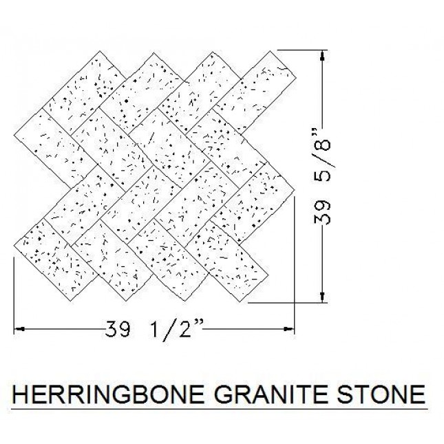 645x645 Herringbone Granite Stone Cad Hatch Download