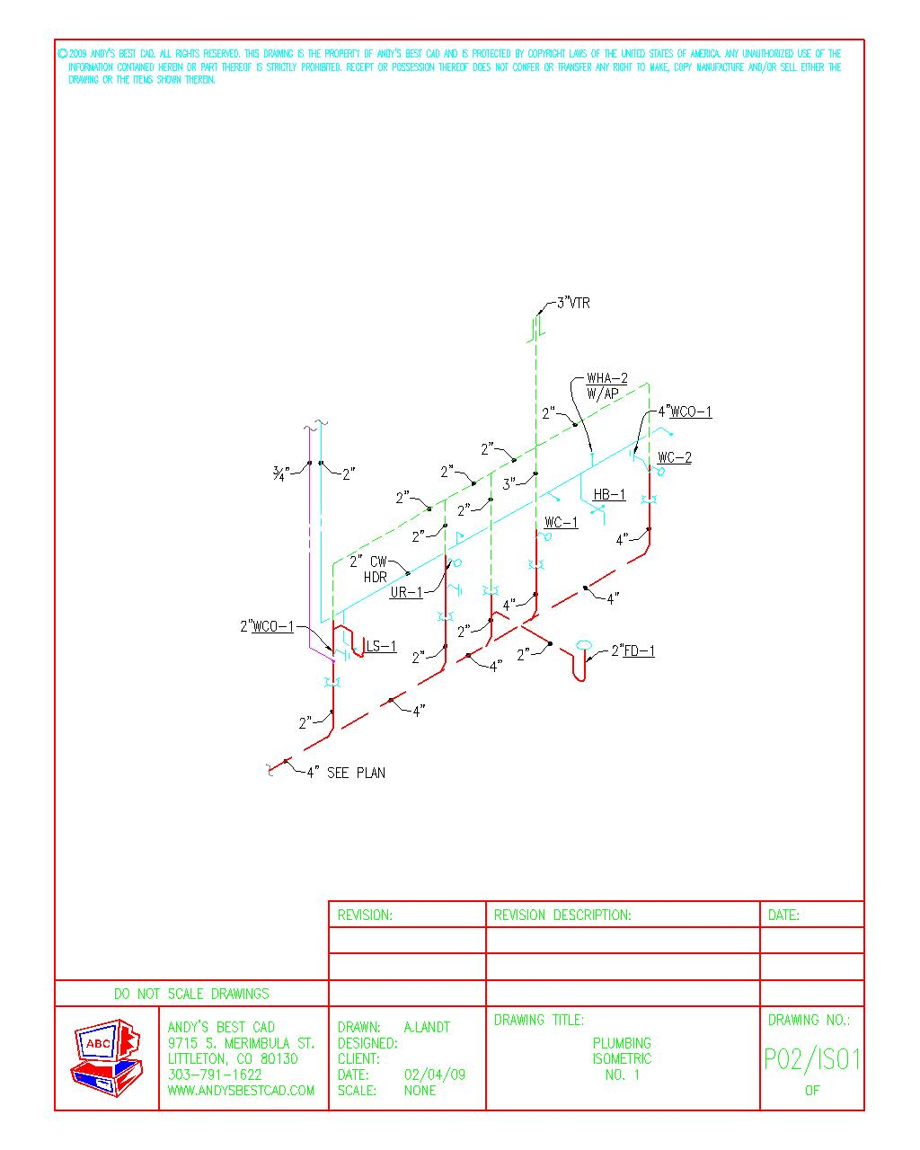 1024x1280 Autocad Plumbing Drafting S&les
