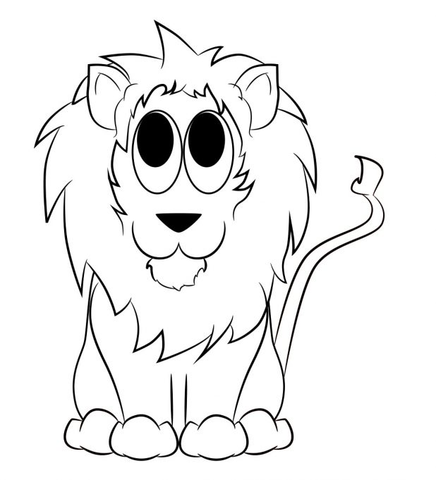 618x681 Adult Draw Lion Draw Lion Cub. Draw Lion Logo. Draw Lion Face Step