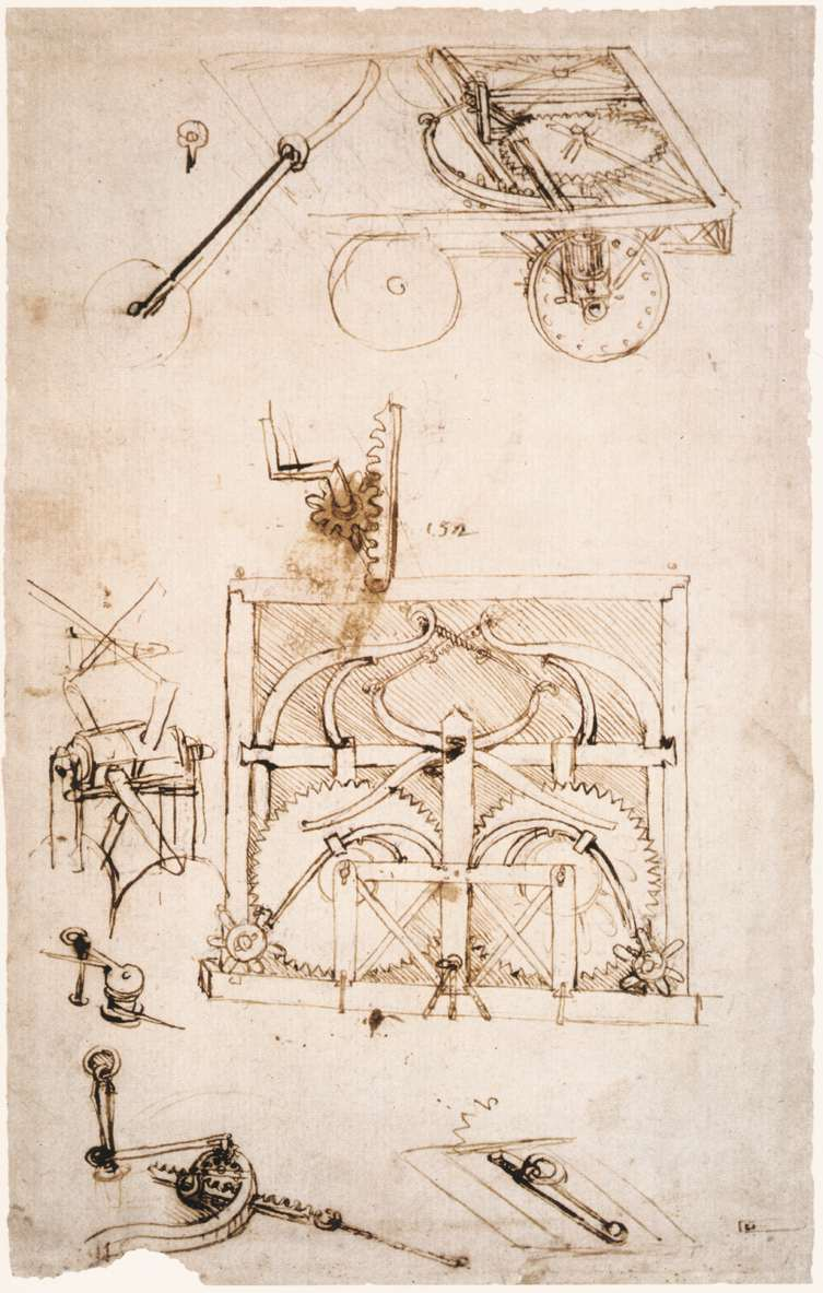 753x1183 Drawing Car By Leonardo Da Vinci History, Analysis Amp Facts