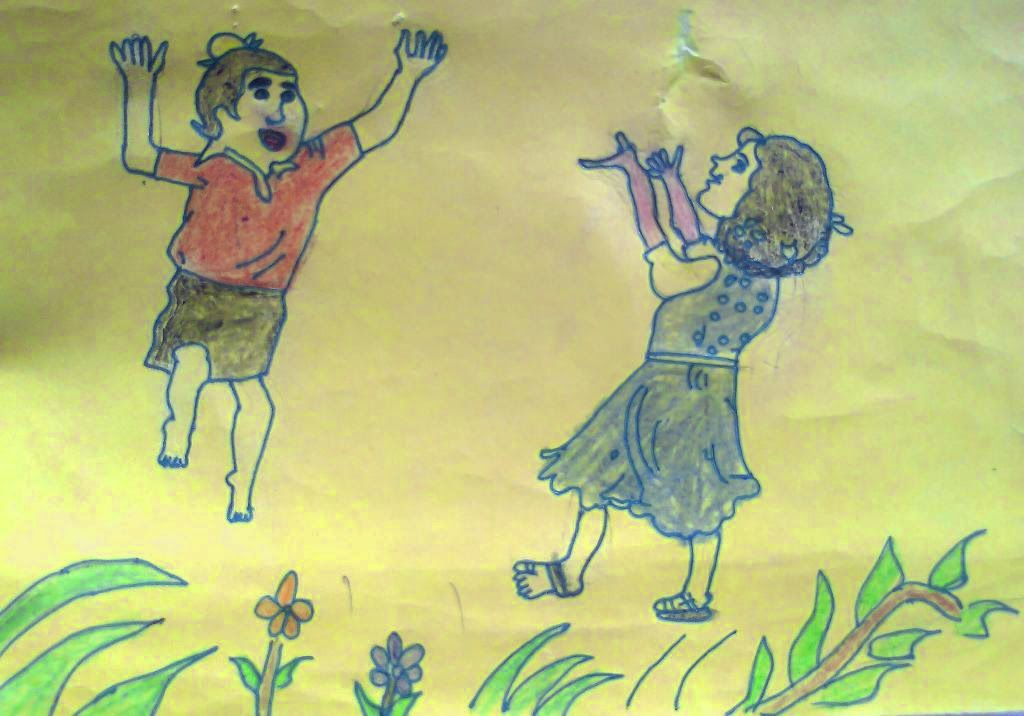 1024x716 Drawing By 5th Class Student