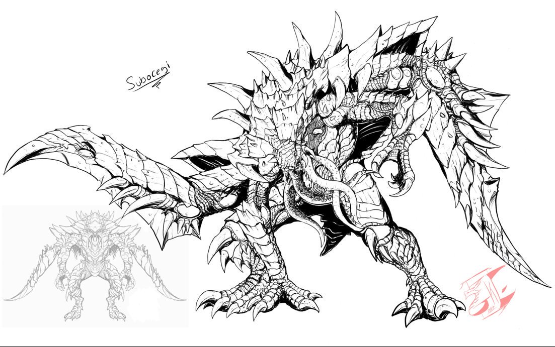 1103x691 Gabetkezilla On Twitter Just Completed Another Commission Kaiju