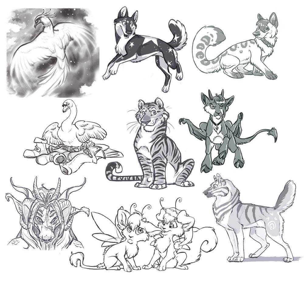 1000x931 Sketch Commissions 2 By Lyosha